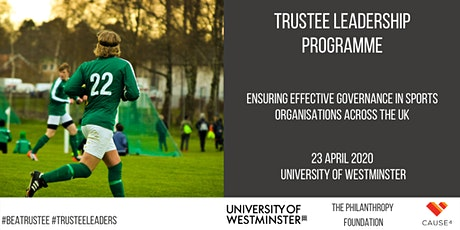 Trustee Leadership Programme - Sports Governance tickets