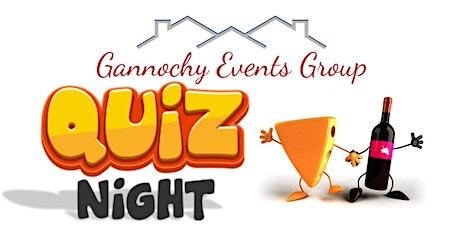 Gannochy Quiz Night - 24 April tickets