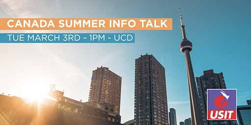 Canada Summer 2020 - Info Talk (UCD)