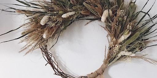 Dried Flower 'Everlasting' Wreath workshop