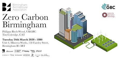 Zero Carbon Birmingham tickets