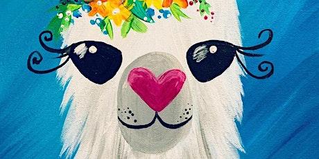 A Whole Llama Love - Family Brush Party - Chertsey tickets