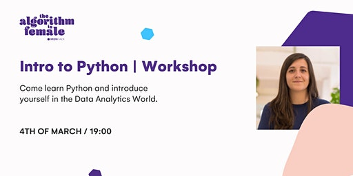 WORKSHOP | Introduction to Python and the Data World | #TAIF