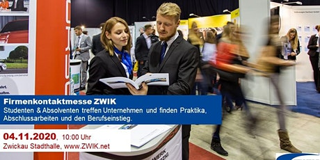 Firmenkontaktmesse ZWIK am 04.11.2020 Tickets