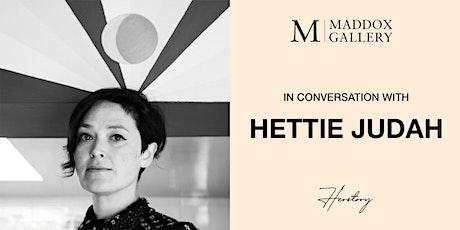 In Conversation with Hettie Judah tickets