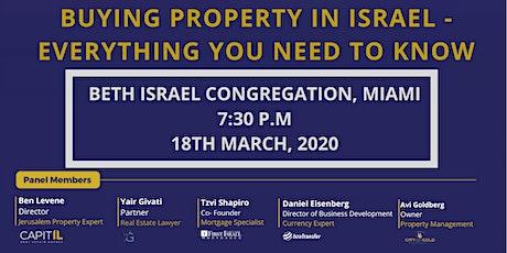 Beth Israel Congregation,Miami 7:30 P.M 18th march, 2020 tickets