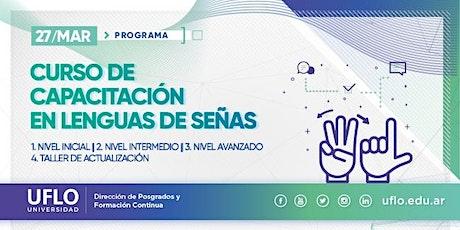 Programa de Capacitación en L.S.A.  (Lengua de Señas Argentina) entradas