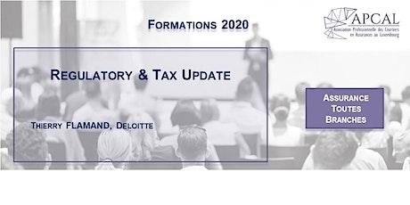 Regulatory & Tax Update - Visioconférence billets
