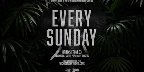 Zoo Bar every Sunday // £2.50 Drinks tickets
