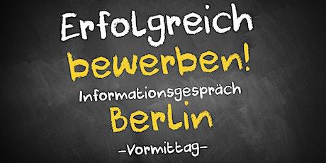 Bewerbungscoaching Informationsgespräch AVGS Berlin Tickets