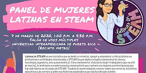 Panel de mujeres latinas en STEAM