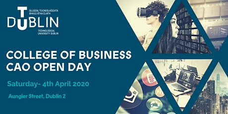 TU Dublin College of Business CAO Open Day 2020 tickets
