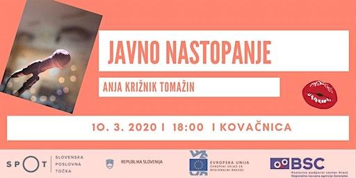 Javno nastopanje z Anjo Križnik Tomažin
