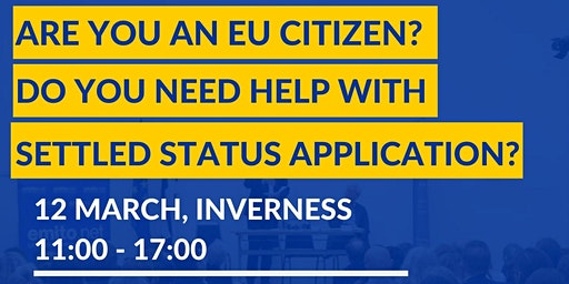 Free information and support session for EU citizens in Inverness