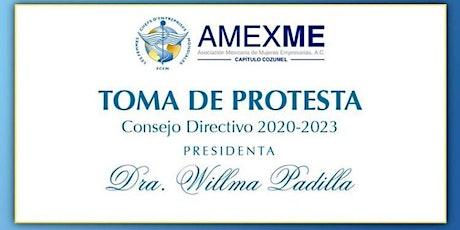 AMEXME Toma de Protesta Mesa Directiva Capítulo Cozumel 2020-2023 boletos