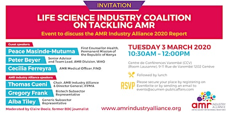 Life Science Industry Coalition Progress on Tackling AMR tickets
