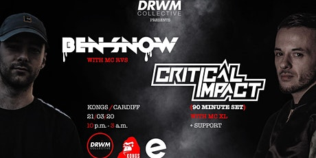 Drwm Collective presents: Ben Snow + Critical Impact (90 mins) w/ XL tickets