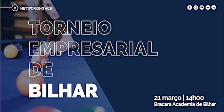 Torneio Empresarial de Bilhar ACB bilhetes