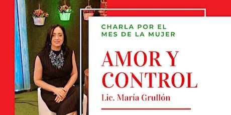 """Conversatorio """"Amor y Control"""" - Fomentando el amor y la armonía entradas"""