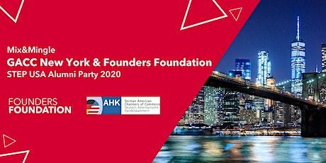 Mix&Mingle GACC New York & Founders Foundation - STEP USA Alumni Party 2020 Tickets