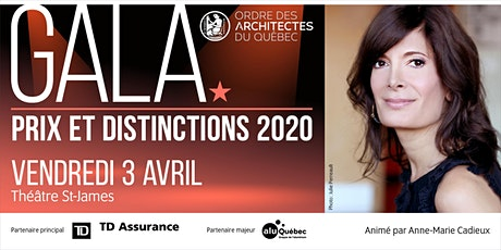 Gala des prix et distinctions de l'Ordre des architectes du Québec billets