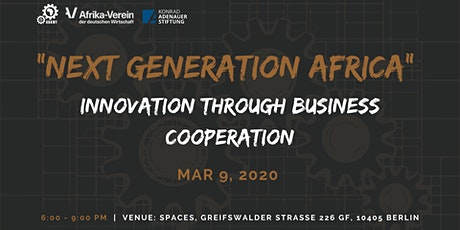 Next Generation Africa: Innovation through Business Cooperation tickets