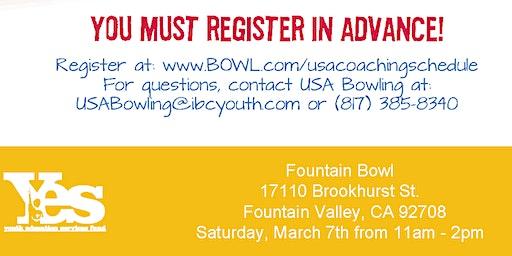 FREE USA Bowling Coach Certification Seminar - Fountain Bowl, Fountain Valley, CA