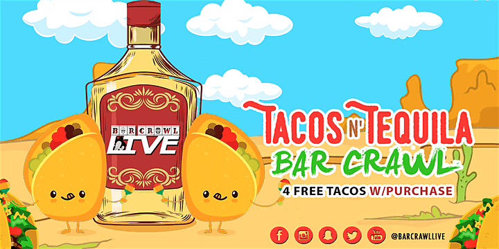 Tacos N' Tequila Crawl | Raleigh, NC - Bar Crawl Live image