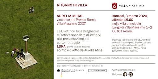 Presentazione film LUPA di Aurelia Mihai