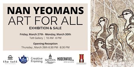 Nan Yeomans Art For All - rescheduled tickets