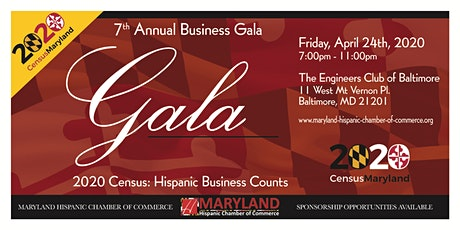 MDHCC Annual Business Gala - 2020 Census: Hispanic Business Counts tickets