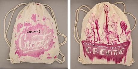 Stoffbeutel Lettering - individuelle Taschen und Bags Tickets