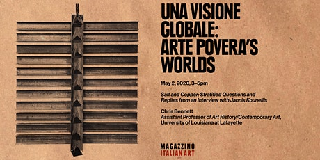 "Chris Bennett Lecture: ""Una visione globale"": Arte Povera's Worlds tickets"
