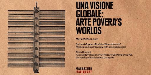 """Chris Bennett Lecture: """"Una visione globale"""": Arte Povera's Worlds"""