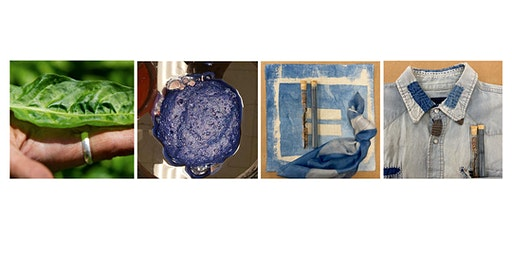 Asian Natural Indigo Dye & Soy Flour Resist Print Dye with Rosa Chang