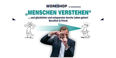 """Workshop """"Meschen verstehen"""" biglietti"""
