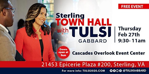 Town Hall with Tulsi Gabbard in Sterling