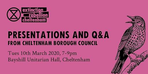 Greening Cheltenham & Climate Crisis - 2 talks from CBC