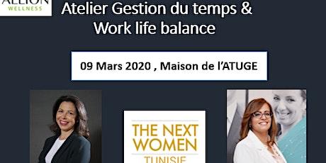 Atelier Gestion du temps & Work-Life balance billets