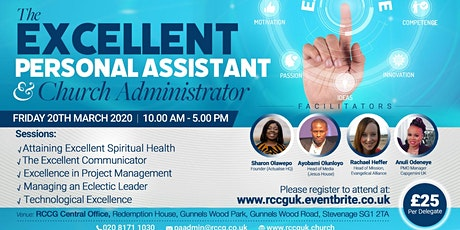 Conference of Personal Assistants and Church Administrators - 2020 tickets