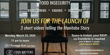 Food Insecurity Video Launch tickets
