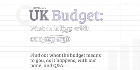 UK Budget: Watch it live with experts tickets