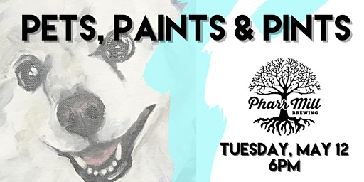 Pets, Paints & Pints at Pharr Mill Brewery