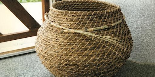 Pine Needle Basket Weaving Class at SLO Botanical Garden