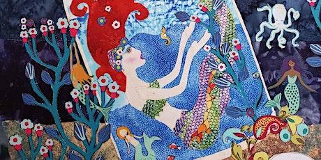 Tiny 'Mermaid' Laura Heine Fabric Collage Class tickets