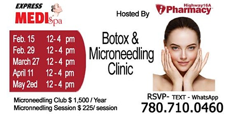 Botox and Microneedling Clinic 11 April 2020 tickets