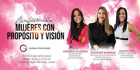 Conferencia: Mujeres con próposito y visión entradas