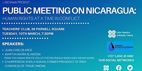 Public meeting on Nicaragua: Human rights at a time in conflict tickets