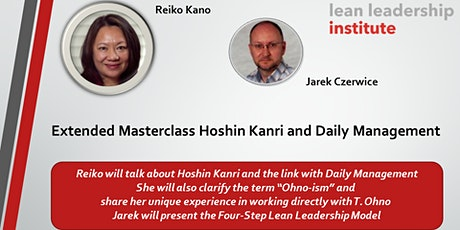 Extended Masterclass Hoshin Kanri and Daily Management  tickets