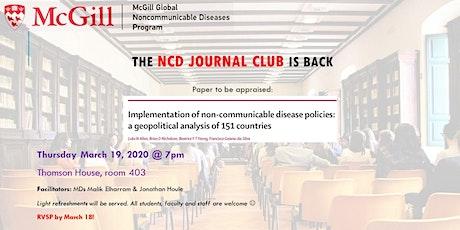 McGill NCD Journal Club - March 19 tickets